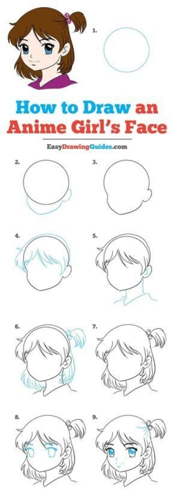 40 Easy Step By Step Tutorials To Draw A Cartoon Face Artisticaly Inspect The Artist Inside You