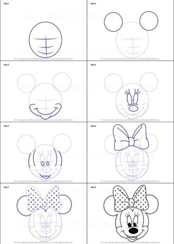 Easy Step by Step Tutorials to Draw a Cartoon Face