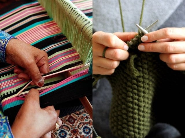 What Are the Main Differences Between Weaving and Knitting?